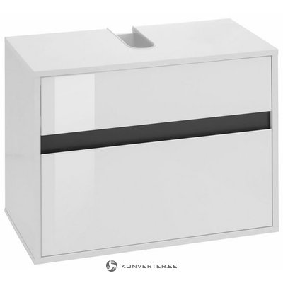 White high gloss washbasin cabinet with 1 drawer (sol) (with beauty defects, in box)