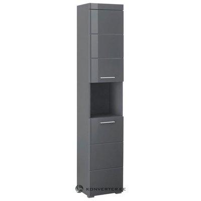 Серый глянцевый шкаф для ванной комнаты (аманда) (с дефектами в коробке)