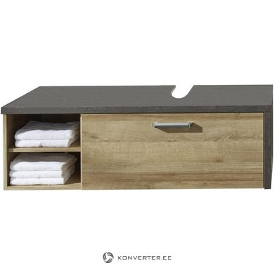 Brown-gray washbasin cabinet with 1 drawer (bay)
