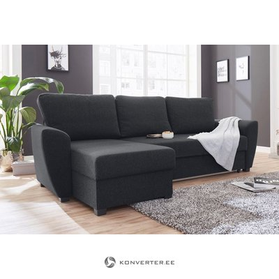 Dark gray corner sofa (atlantic)