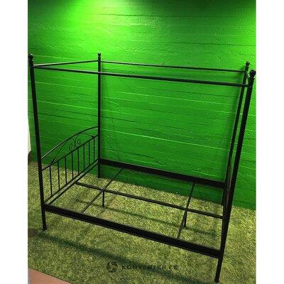 Juodojo metalo baldakimas 140x200