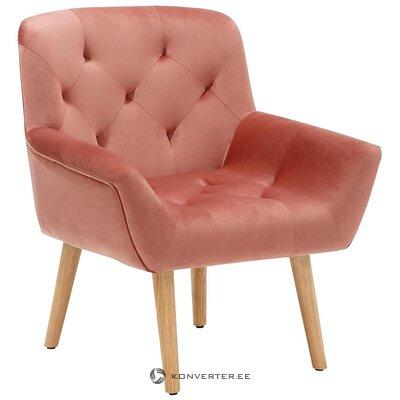 Розовое бархатное кресло (саами)
