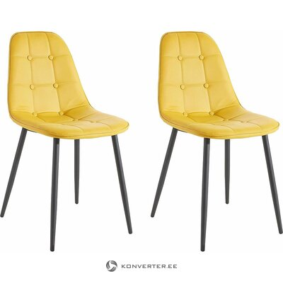 Yellow-black chair (with beauty defects) (hall sample, with defect,)