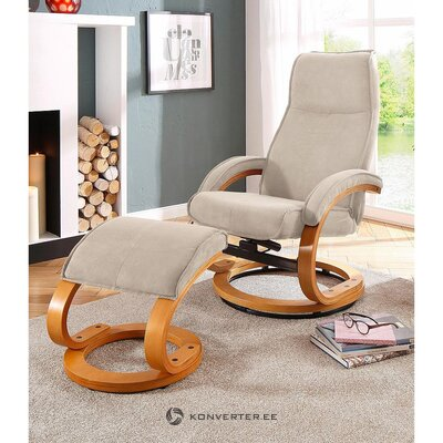 Beige swivel armchair (whole, in box)