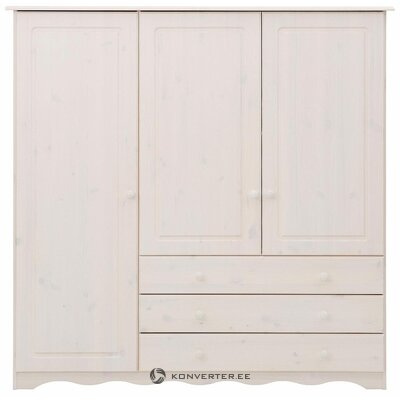 White Solid Wood Wardrobe (Mini)