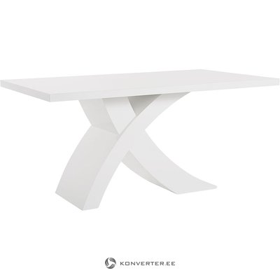 Valkoinen, kiiltävä ruokapöytä