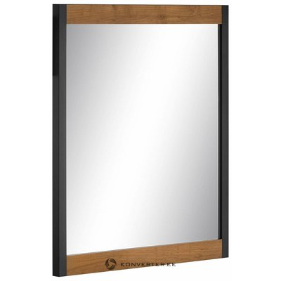 Black Frame Wall Mirror (chris) (whole, in box)