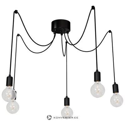 Черный подвесной светильник (люминекс)