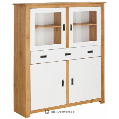 Ariel Highboard - White/Stain/Wax