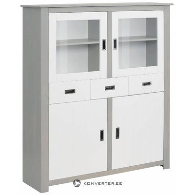 Ariel Highboard - White/grey