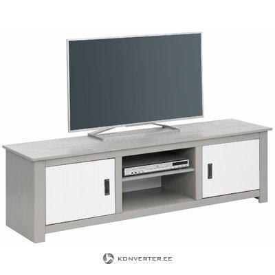 Ariel lowboard - white / gray