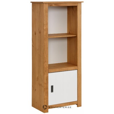 Ariel Bookcase - White/Stain/Wax