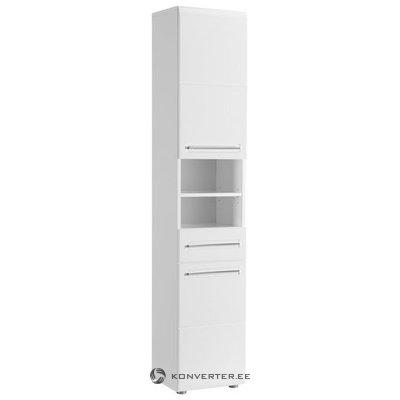 Balta blizgi spintelė su 2 durimis ir 1 stalčiumi (boro) (su dėžutės defektais)