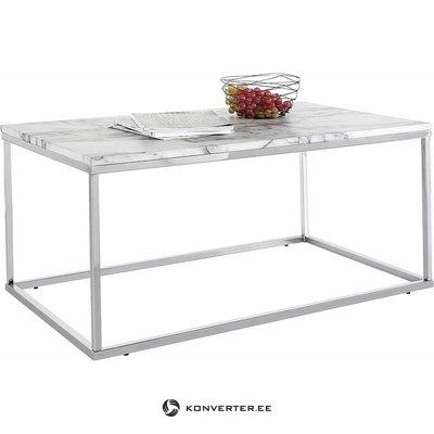 Pelēks, plats kafijas galdiņš (ar skaistuma defektiem, kastē)