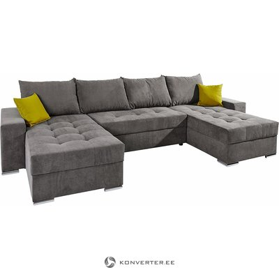 Gray Corner Sofa Bed (whole, sample hall)