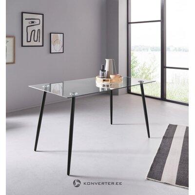 Stikla pusdienu galds (140cm) (danny)