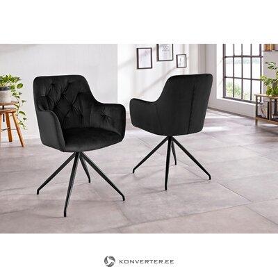 Melns mīksts krēsls (alva)