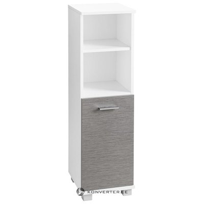 White-gray closet with 1 door