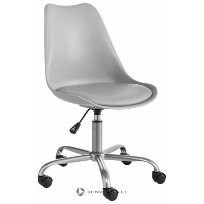 Gray Wheeled Office Chair Donny (In Box, Whole)