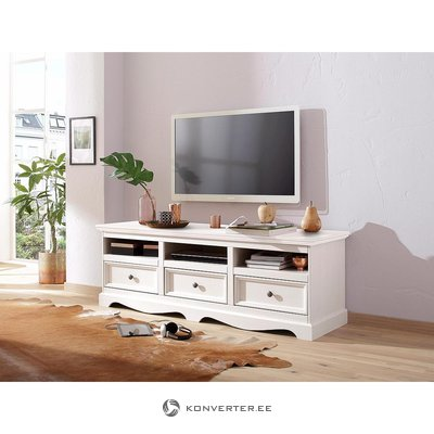 White Solid Wood Chest of Drawers (Melissa)