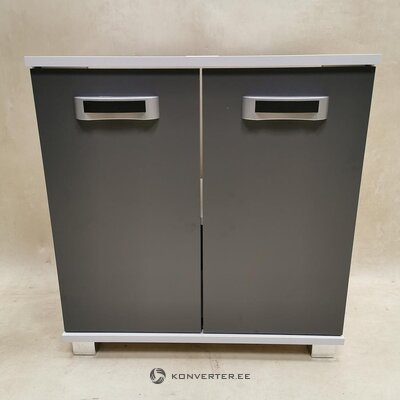 Gray-white sink cabinet (whole, sample hall)