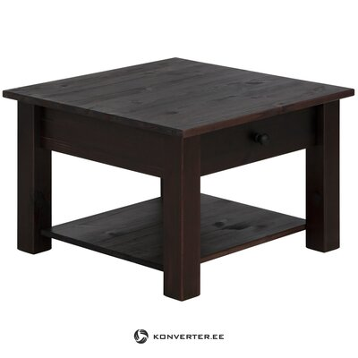Black solid wood coffee table with drawer (chicago) (beauty defects hall sample)
