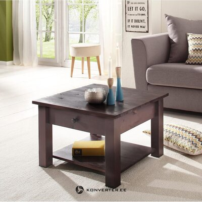 Black solid wood sofa table with drawer