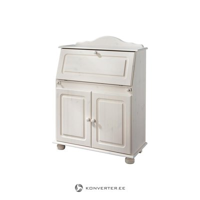 White solid wood cabinet cabinet