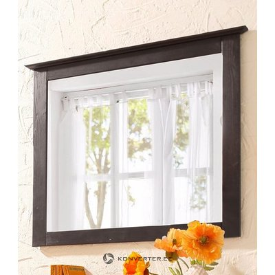 Black solid wood frame with mirror