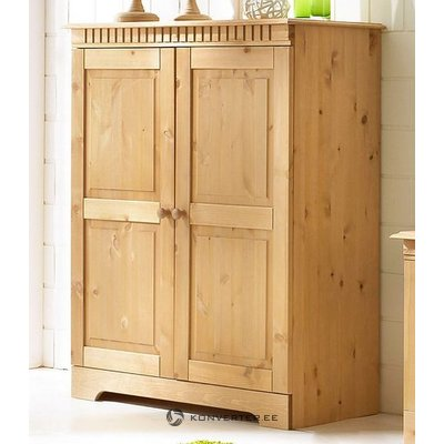 Light cabinet with solid wood