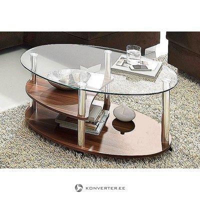 Tumši brūns stikla dīvāna galds (inosign) (kastē, vesels)