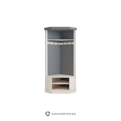 Monroe Corner wardrobe - White/Grey