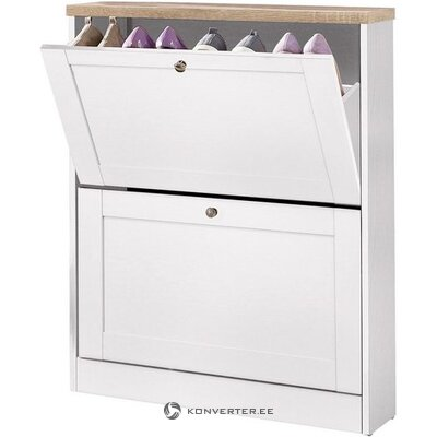Small white shoe cabinet with 2 doors (whole, in a box)