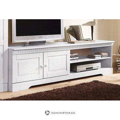 White Wide Solid Wood TV Cabinet (cubrix)