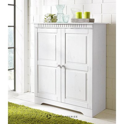 White solid wood cabinet with 2 doors