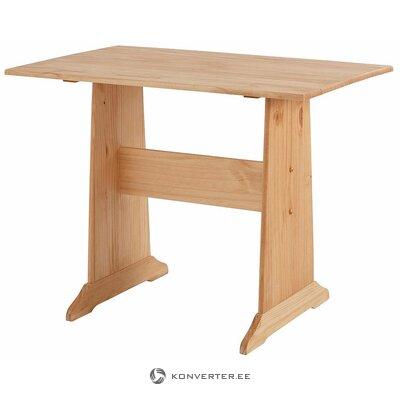 Gaiši brūns masīvkoka galds (sascha) (kastē, ar skaistuma defektu)