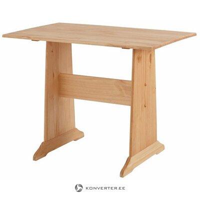 Vaaleanruskea massiivipuupöytä (sascha) (pienet puutteet)