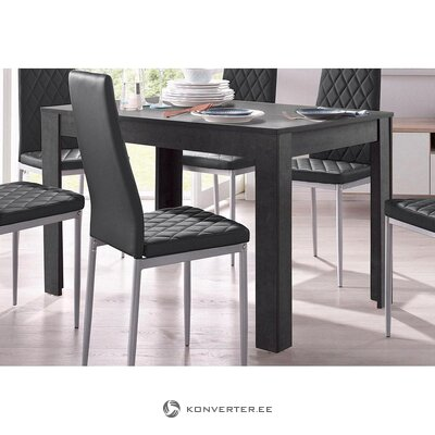 Dark gray wider dining table (lynn) (with beauty defects., Hall sample)