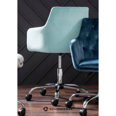 Бирюзовое бархатное офисное кресло (перри) (целиком, в коробке)