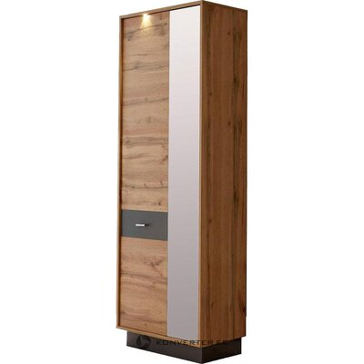 Brown wardrobe with mirror (coast) (box, whole)