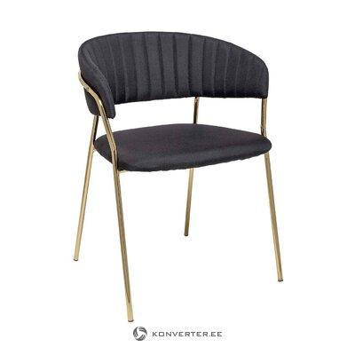 Musta verhoiltu tuoli (bloomingville)