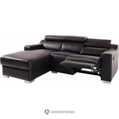 Black leather sofa with relaxing function (atlantic)