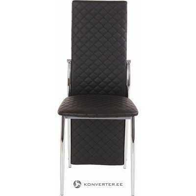 Black leather coated chair