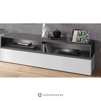 Gray-white TV cabinet