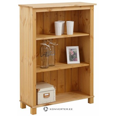 Low solid wood bookshelf
