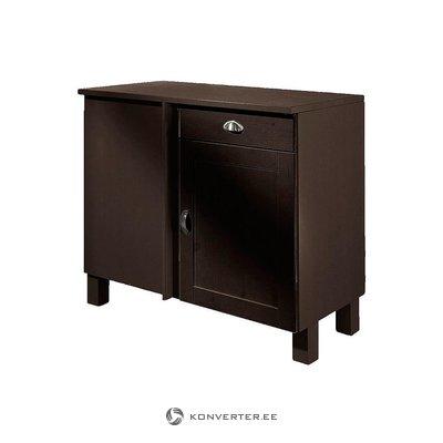 Small dark brown cabinet (Oslo)