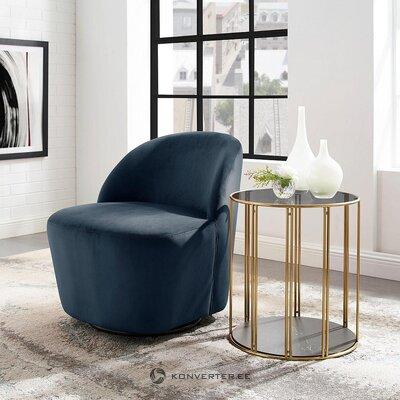 Mėlynas aksominis fotelis (skaidrė)