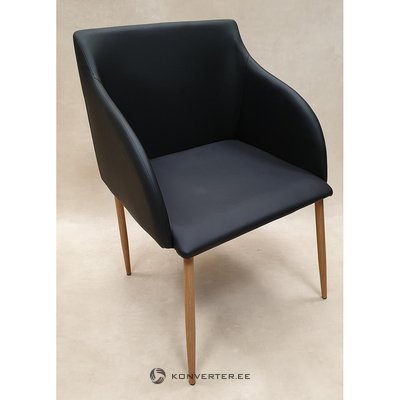 Black-brown chair with armrests