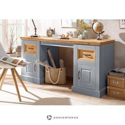 Письменный стол серо-коричневый (сельма) (с дефектами., В ящике)