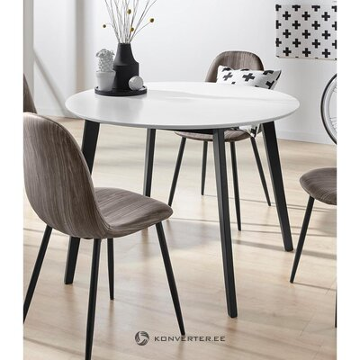 Black and white dining table (cody) (in box, whole)